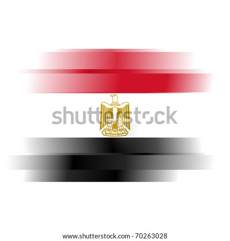 The Abstract Egypt Flag on white background - stock photo