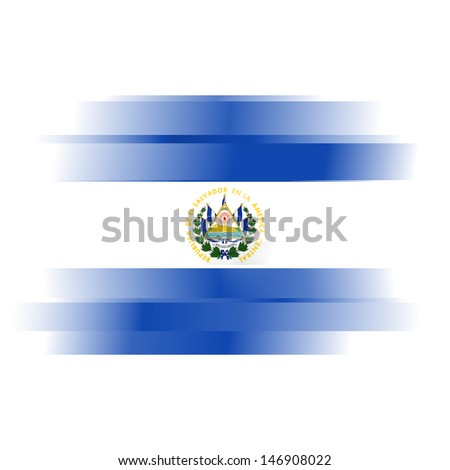 The Abstract El Salvador flag on white background - stock photo