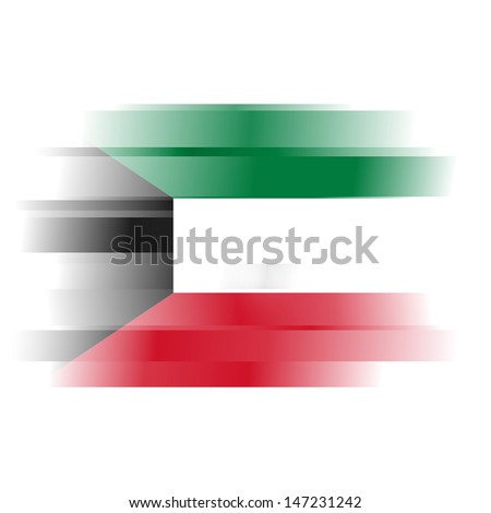The Abstract flag of Kuwait on white background - stock photo