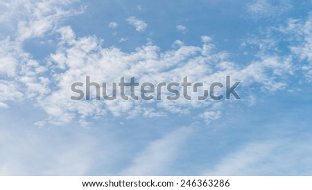 The abstract formation of high level clouds.