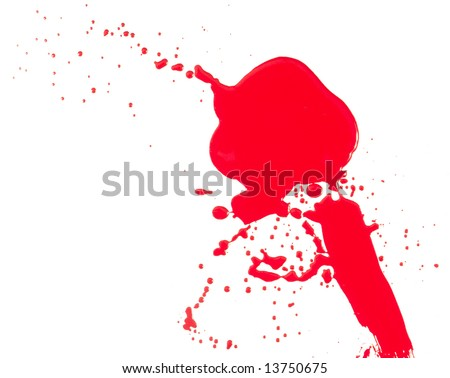 The abstract image red color  on a white background