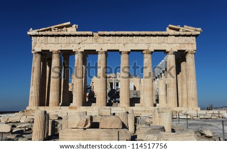 The Acropolis in Greece - stock photo