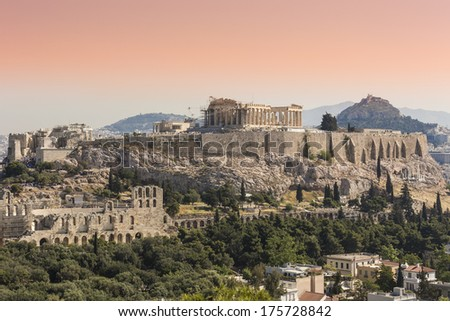 the Acropolis of Athens, Greece  - stock photo