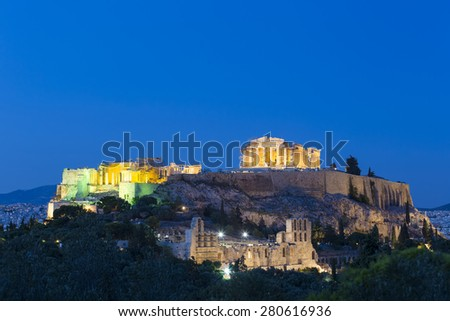 the Acropolis of Athens,Greece  - stock photo