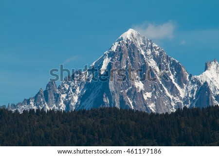The Aiguille Verte (4122m) is one of the mythic summits of the Chamonix Valley in France.