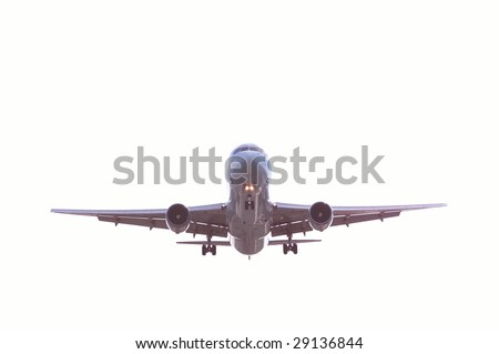 The aircraft (bottom view) isolated on white - stock photo