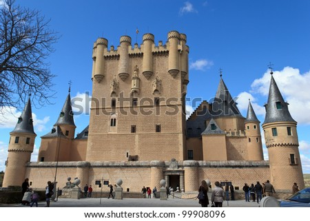 The Alcazar of Segovia - stock photo