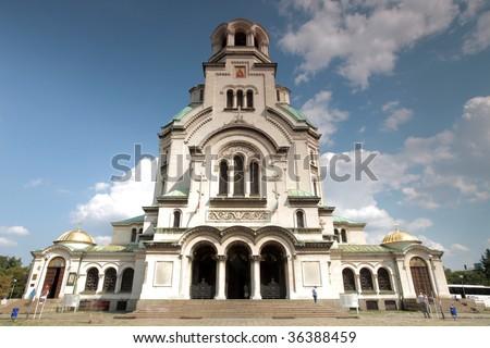 the alexander nevsky church in sofia, bulgaria - stock photo