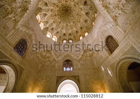 the Alhambra in Granada - stock photo