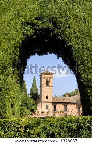 The Alhambra, in Granada Spain, is an UNESCO World Heritage site - stock photo