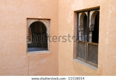 The Alhambra, in Granada Spain.This is an UNESCO World Heritage site - stock photo