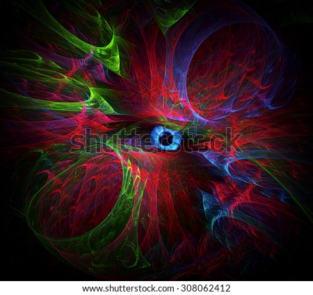 The All Seeing Eye abstract illustration - stock photo