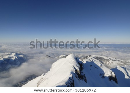 The Alpstein,  Appenzell Alps in Switzerland - stock photo