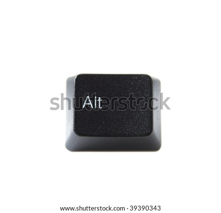 The ALT key from a black computer keyboard - stock photo