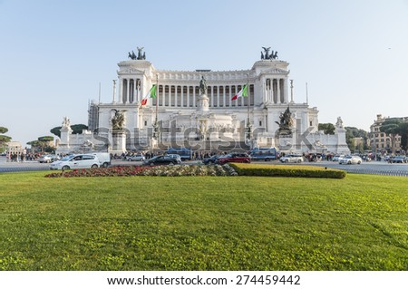 The Altar Of The Fatherland.Piazza Venezia. Rome. Italy. - stock photo