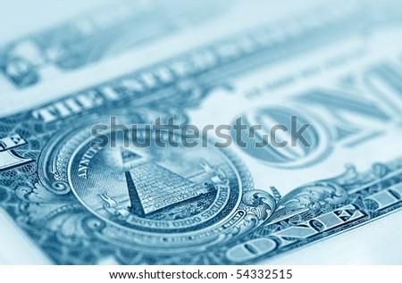 The American money dollars close-up - stock photo