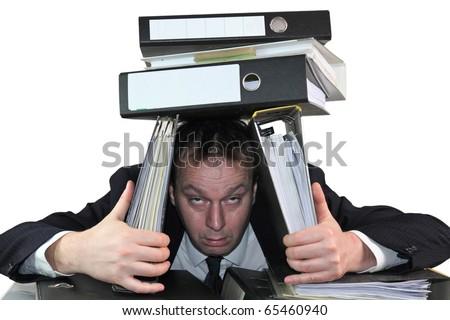 The amount of work - stock photo