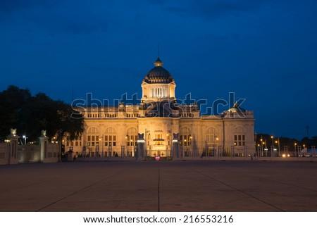 The Ananta Samakhom Throne Hall Museum in Thai Royal Dusit Palace, Bangkok, Thailand. - stock photo