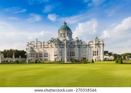 The Ananta Samakhom Throne Hall (Thailand white house) in Royal Dusit Palace, Bangkok Thailand - stock photo