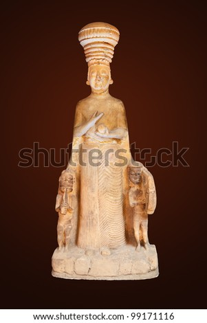 The ancient art in the Museum of Anatolian Civilizations - Ankara Turkey - stock photo