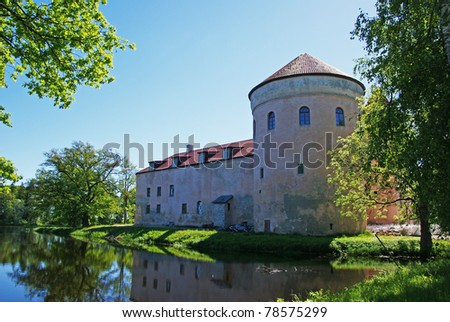 The ancient castle in the east of Estonia. 15 century