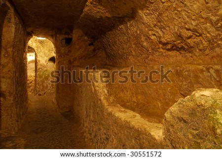 The ancient Christian cemetery (catacombs) at Rabat, Malta