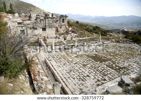 The ancient city of Sagalassos in Turkey