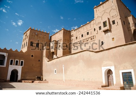 The ancient Fort of Ouarzazate, Morocco - stock photo