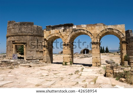 The ancient Greek and Roman city of Hierapolis