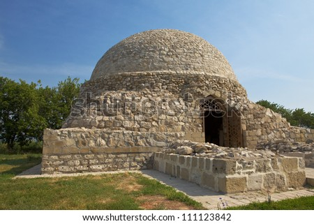 The ancient mausoleum built of natural stone