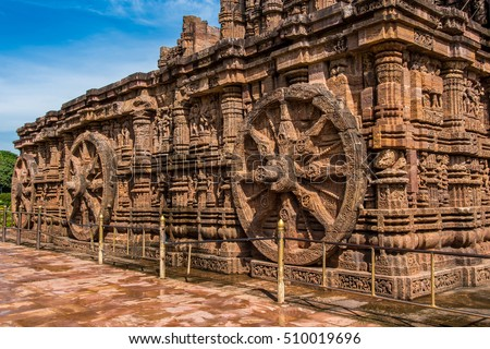 The ancient Sun temple at Konark built in 13th century is a world heritage conservation site today