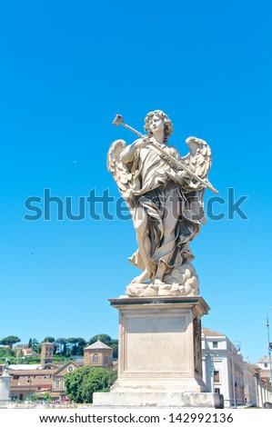 The Angel, Castel Sant'Angelo, Roma, Italy - stock photo