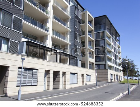 The apartment buildings in Sydney (New South Wales).