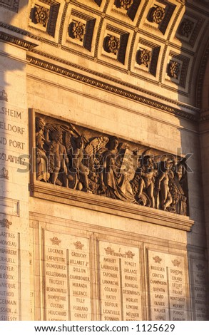 The Arc de Triomphe, Paris, France