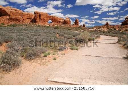 The Arches National Park in Utah, USA - stock photo