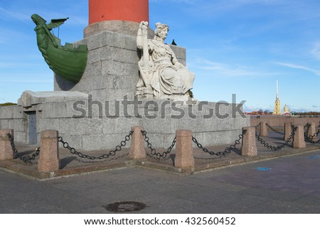 The architecture of Saint-Petersburg, Rostral column