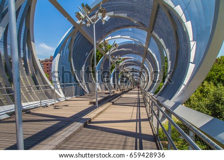 The Arganzuela Footbridge in Madrid