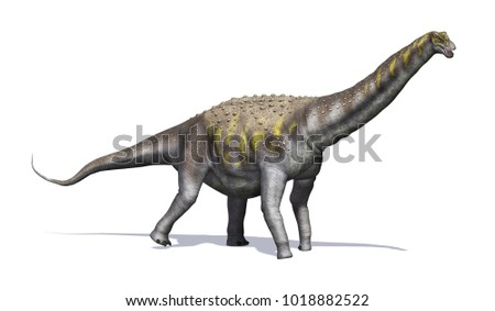 The Argentinosaurus was a dinosaur that lived during the late cretaceous period - 3d render.