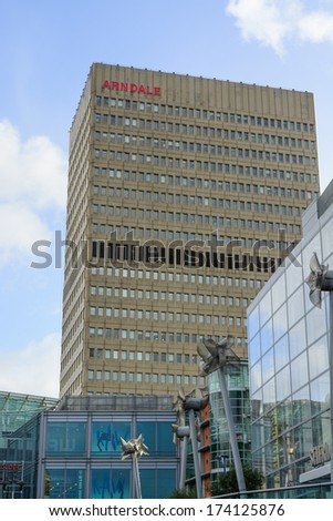 The Arndale, Manchester, UK - January 27: The popularity of the Arndale  in Manchester on January 27th 2013 has spurred on a redevelopment process for the area. - stock photo