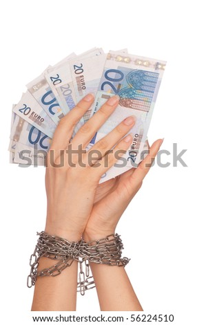 The arrested counterfeiter with the twenty false euro