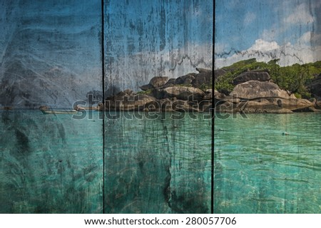 The art of painting background - stock photo
