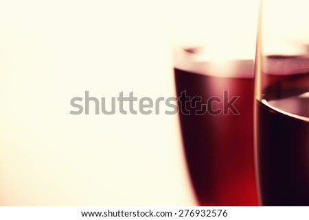 The art of wine glass background. - stock photo