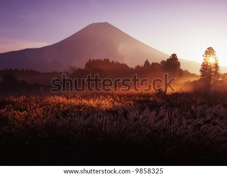 The Asagari highland morning scene - stock photo