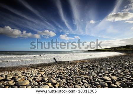 the Atlantic beach - stock photo