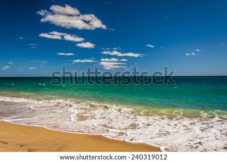 The Atlantic Ocean in Palm Beach, Florida. - stock photo