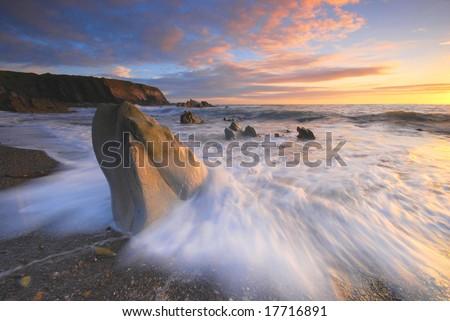 The Atlantic wave - stock photo
