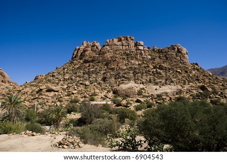 The Atlas mountain, Morocco (near Tafrout) - stock photo