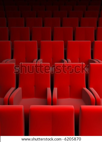 the auditorium with red seat