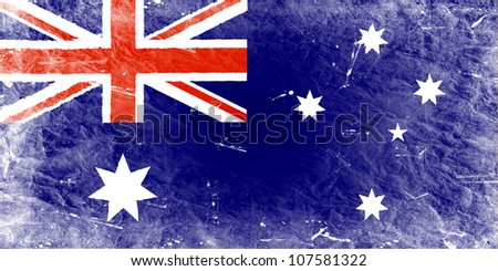 The Australian flag painted in vintage style - stock photo