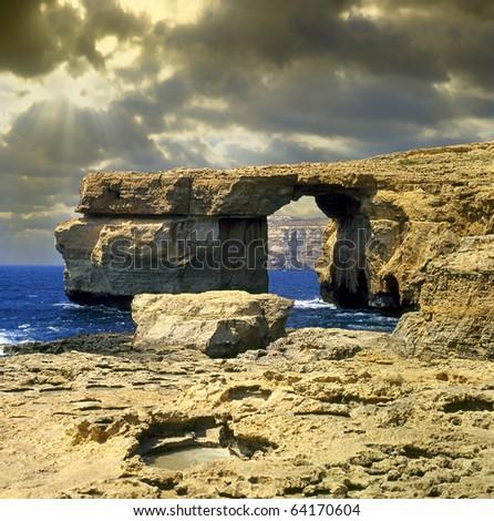 The Azure Window in Gozo, Malta - stock photo